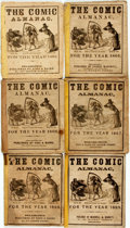 Books:Americana & American History, [Comic Almanac]. Group of Six. The Comic Almanac for theYears 1862 and 1865 - 1869. Philadelphia: Various publi...