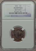 Early Dimes: , 1802 10C -- Repaired -- NGC Details. AG. NGC Census: (0/28). PCGSPopulation (7/53). Mintage: 10,975. Numismedia Wsl. Price...
