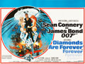 "Movie Posters:James Bond, Diamonds are Forever (United Artists, 1971). British Quad (30"" X 40"").. ..."