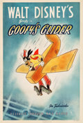 "Movie Posters:Animated, Goofy's Glider (RKO, 1940). One Sheet (27"" X 41"").. ..."