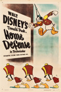 "Movie Posters:Animation, Donald Duck in Home Defense (RKO, 1943). One Sheet (27"" X 41"")....."