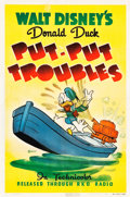 "Movie Posters:Animated, Donald Duck - Put-Put Troubles (RKO, 1940). One Sheet (27.25"" X41"").. ..."