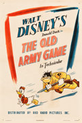 "Movie Posters:Animated, Donald Duck in The Old Army Game (RKO, 1943). One Sheet (27.25"" X 41"").. ..."