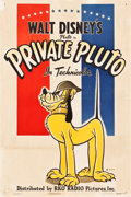 "Movie Posters:Animation, Private Pluto (RKO, 1943). One Sheet (27.5"" X 41"").. ..."