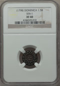 Dominica, Dominica: British Colony Counterstamped 1 1/2 Bits ND (1798) XF40NGC,...