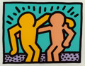 Prints, Keith Haring (American, 1958-1990). Best Buddies, 1990. Screenprint in colors. 21-3/4 x 28 inches (55.1 x 71.1 cm). Ed. ...