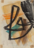 Post-War & Contemporary:Abstract Expressionism, Hans Richter (American, 1888-1976). Untitled, 1968. Pastelon paper. 8-1/4 x 5-3/4 inches (21.0 x 14.6 cm). Initialed an...