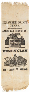 Political:Ribbons & Badges, Henry Clay: Rare Agriculture and Industry Ribbon....