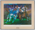 Football Collectibles:Others, Johnny Unitas Signed Lithograph....