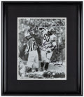 Football Collectibles:Photos, Chuck Bednarik Signed, Inscribed Oversized Photograph....
