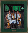 Basketball Collectibles:Photos, Larry Bird, Robert Parish and Kevin McHale Multi Signed OversizedPhotograph....
