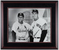 Baseball Collectibles:Photos, Stan Musial and Ted Williams UDA Signed Oversized Photograph....