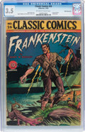 Golden Age (1938-1955):Classics Illustrated, Classic Comics #26 Frankenstein - First Edition - White Mountainpedigree (Gilberton, 1945) CGC VG- 3.5 Off-white to white pag...