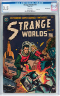 Golden Age (1938-1955):Science Fiction, Strange Worlds #19 White Mountain pedigree (Avon, 1955) CGC VG- 3.5White pages....