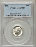 Roosevelt Dimes, 1952 10C MS67 Full Bands PCGS. PCGS Population (23/0). NGC Census: (35/0). Mintage: 99,000,000. Numismedia Wsl. Price for p...