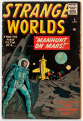 Golden Age (1938-1955):Science Fiction, Strange Worlds #4 (Marvel, 1959) Condition: VG....