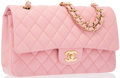 "Luxury Accessories:Accessories, Chanel Pink Quilted Lambskin Leather Medium Double Flap Bag withGold Hardware. Very Good to Excellent Condition. 10""..."