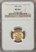 Liberty Quarter Eagles, 1904 $2 1/2 MS66+ NGC....