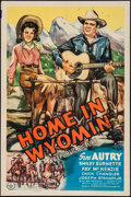 """Movie Posters:Western, Home in Wyomin' (Republic, 1942). One Sheet (27"""" X 41""""). Western....."""