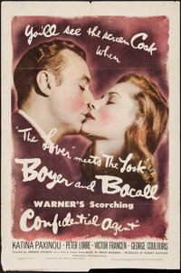 """Confidential Agent (Warner Brothers, 1945). One Sheet (27"""" X 41""""). Drama"""