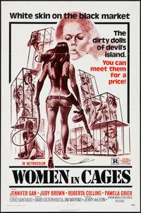 "Women in Cages & Others Lot (New World, 1971). One Sheets (2) (27"" X 41"") & Uncut Pressbook (1..."