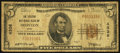 National Bank Notes:Ohio, Ironton, OH - $5 1929 Ty. 1 The Citizens NB Ch. # 4336. ...