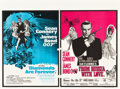 "Movie Posters:James Bond, Diamonds are Forever/From Russia With Love Combo (Eon Productions,1971). British Quad (30"" X 40"").. ..."