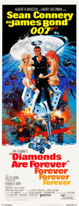 """Movie Posters:James Bond, Diamonds are Forever (United Artists, 1971). Insert (14"""" X 36"""").. ..."""