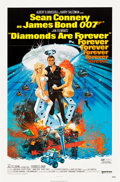 "Movie Posters:James Bond, Diamonds are Forever (United Artists, 1971). One Sheet (27"" X 41"")and Lobby Card Set of 8 (11"" X 14"").. ... (Total: 9 Items)"