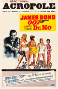 "Movie Posters:James Bond, Dr. No (United Artists, 1962). Belgian (14"" X 21"").. ..."