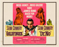 """Movie Posters:James Bond, Goldfinger/Dr. No Combo (United Artists, R-1966). Half Sheet (22"""" X 28"""") and Insert (14"""" X 36"""").. ... (Total: 2 Items)"""