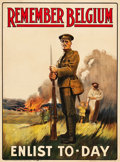 "Movie Posters:War, World War I Propaganda (Parliamentary Recruiting Committee, 1914).British Recruiting Poster No. 16 (29.5"" X 39.75"") ""Rememb..."