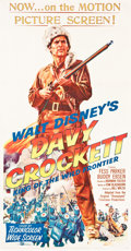 "Movie Posters:Western, Davy Crockett, King of the Wild Frontier (Buena Vista, 1955). ThreeSheet (41"" X 79"").. ..."