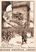 "Movie Posters:War, World War I Propaganda (Banque Nationale de Credit, 1916). FrenchBond Poster (31.5"" X 45"").. ..."