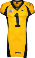 Football Collectibles:Uniforms, 2006 DeSean Jackson Game Worn, Signed Cal Bears Jersey - Worn 12/28 in the Holiday Bowl....