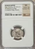 Ancients:Roman Imperial, Ancients: Septimius Severus (AD 193-211). AR denarius (3.56 gm)....