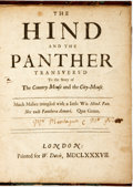Books:Literature Pre-1900, [Mathew Prior and Charles Montagu]. The Hind and the PantherTransvers'd to the Story of The Country Mouse and the City-...