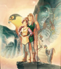 Animation Art:Poster, Quest for Camelot Original Mixed Media on Art Board by JohnAlvin...