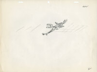 Wile E. Coyote with Magnet Original layout drawing (key pose) by Chuck Jones from his 1961 Academy Award-nominated short...