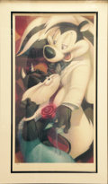 "Animation Art:Poster, Chanson d'Amour A limited edition fine art reproduction onpaper by Scott Seeto, edition #286/350. Framed, 38"" x 24""..."