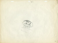 """Ralph Phillips Daydreaming Original layout drawing (key pose) by Chuck Jones from his 1957 short animated film, """"Bo..."""