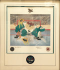 Animation Art:Poster, Devil of a Save--San Jose Sharks A limited edition fine artlithograph by Charles and Tom McKimson. Edition #238/250, signed...