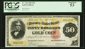 Large Size:Gold Certificates, Fr. 1196 $50 1882 Gold Certificate PCGS About New 53.. ...