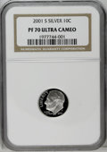 Proof Roosevelt Dimes: , 2001-S 10C Silver PR70 Deep Cameo NGC. PCGS Population (61/0).Numismedia Wsl. Price: $160.(#95293)...