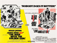 """The Man with the Golden Gun/Live and Let Die Combo (United Artists, R-1977). British Quad (30"""" X 40"""")"""