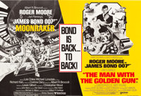 "Moonraker/The Man with the Golden Gun Combo (United Artists, R-1979). British Quad (30"" X 40"")"