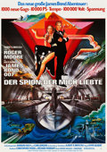 "Movie Posters:James Bond, The Spy Who Loved Me (United Artists, 1977). German A1 (23"" X 33"")Advance Style and Regular Style.. ... (Total: 2 Items)"