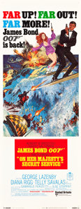"Movie Posters:James Bond, On Her Majesty's Secret Service (United Artists, 1970). Insert (14""X 36"").. ..."