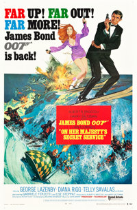 """On Her Majesty's Secret Service (United Artists, 1970). One Sheets (2) (27"""" X 41"""") Style A and Style B. ... (T..."""