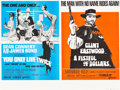 "Movie Posters:James Bond, You Only Live Twice/A Fistful of Dollars Combo (United Artists,R-1969). British Quad (30"" X 40"").. ..."